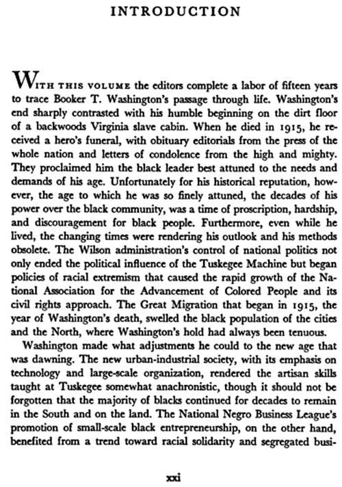 Booker T. Washington Essay